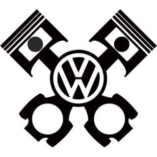 Stickers PISTON VW