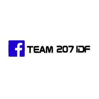 Stickers  TEAM 207 IDF TEXTE