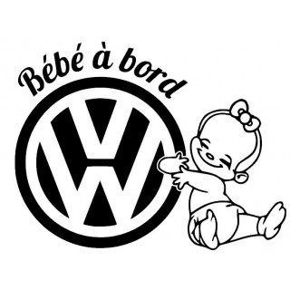 Stickers BÉBÉ A BORD VW FILLE