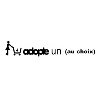 Stickers ADOPTE UN Personnalisable