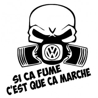 Stickers SI CA FUME VW